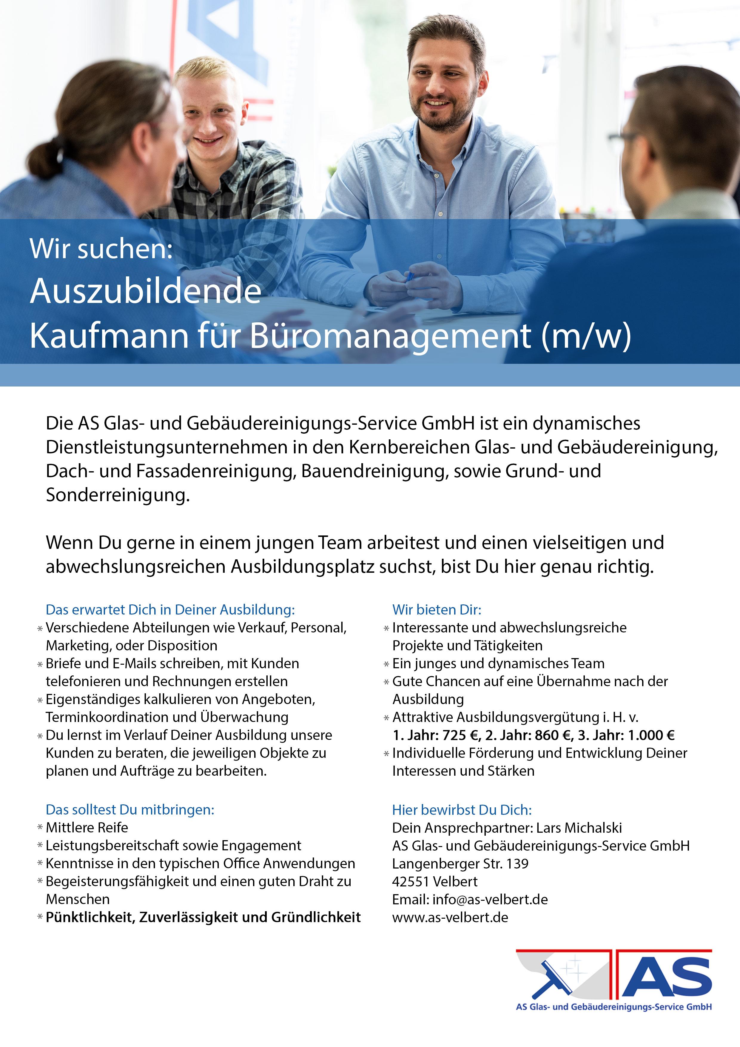 Azubi Kaufmann für Büromanagement
